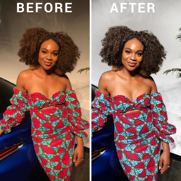 Before and After Editing Instagram Photo